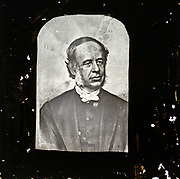 Magic lantern slide portrait of unknown male gentleman in Victorian period clothing of late 1800s