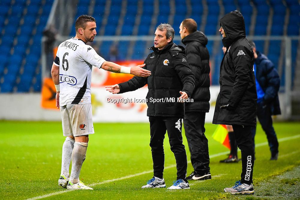 Anthony GONCALVES / Denis ZANKO  - 12.12.2014 - Le Havre / Laval - 17eme journee de Ligue 2 <br /> Photo : Fred Porcu / Icon Sport