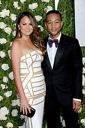 June 11, 2017 - New York, NY, USA - June 11, 2017  New York City..Chrissy Teigen and John Legend attending the 71st Annual Tony Awards arrivals on June 11, 2017 in New York City. (Credit Image: © Kristin Callahan/Ace Pictures via ZUMA Press)