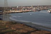 River Orwell, Ipswich docks, Suffolk, England