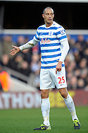 Bobby Zamora of QPR looks on. Barclays Premier league match, Queens Park Rangers v Manchester Utd at Loftus Road in London on Saturday 17th Jan 2015. pic by John Patrick Fletcher, Andrew Orchard sports photography.