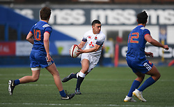 Englands Manu Vunipola<br /> Photographer Mike Jones/Replay Images<br /> <br /> England U18s v France U18s<br /> Six Nations, Sunday 8th April 2018, <br /> Cardiff Arms Park, Cardiff, <br /> <br /> World Copyright © Replay Images . All rights reserved. info@replayimages.co.uk - http://replayimages.co.uk
