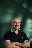 Controversial Scottish author of 'Trainspotting', Irvine Welsh, pictured at the Edinburgh International Book Festival where he talked about his latest book entitled 'Skagboys'. The three-week event is the world's biggest literary festival and is held during the annual Edinburgh Festival. The 2011 event featured talks and presentations by more than 500 authors from around the world..