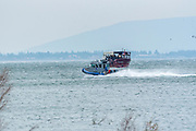 Israeli Police patrol boat in Lake Tiberias, (Sea of Galilee), Israel