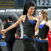 Efes Pilsen's show girls during their Turkish Basketball Legague Play-Off qualifying first match Efes Pilsen between Pinar Karsiyaka at the Sinan Erdem Arena in Istanbul Turkey on Wednesday 11 May 2011. Photo by TURKPIX