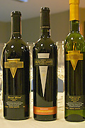 Bottle of Reserva Malbec, special blend and Semillon tardio sweet late harvest Bodega Del Fin Del Mundo - The End of the World - Neuquen, Patagonia, Argentina, South America
