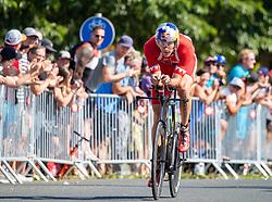 07.07.2019, Klagenfurt, AUT, Ironman Austria, Radfahren, im Bild David Plese (SLO) // David Plese (SLO) during the bike competition of the Ironman Austria in Klagenfurt, Austria on 2019/07/07. EXPA Pictures © 2019, PhotoCredit: EXPA/ Johann Groder