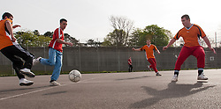 Prisoners playing football, prison UK