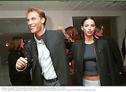 Damian Aspinall and Petrina Khashoggi. Talk pre-globe Awards Party. Mondrian, Los Angeles. 22/1/2000.<br />© Copyright Photograph by Dafydd Jones 66 Stockwell Park Rd. London SW9 0DA Tel 020 7733 0108 www.dafjones.com