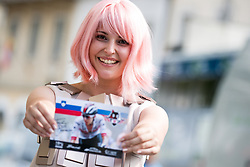 Hostess of company TEM Catez after 5th Stage of 26th Tour of Slovenia 2019 cycling race between Trebnje and Novo mesto (167,5 km), on June 23, 2019 in Slovenia. Photo by Matic Klansek Velej / Sportida
