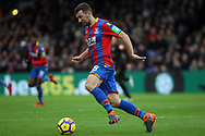 James McArthur of Crystal Palace in action. Premier League match, Crystal Palace v Newcastle Utd at Selhurst Park in London on Sunday 4th February 2018. pic by Steffan Bowen, Andrew Orchard sports photography.