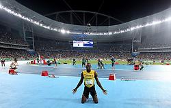 18-08-2016 BRA: Olympic Games day 13, Rio de Janeiro<br /> Usain Bolt wint de 200m finale.