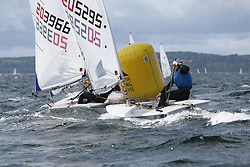 Day 4 NeilPryde Laser National Championships 2014 held at Largs Sailing Club, Scotland from the 10th-17th August.<br /> <br /> 205295, Ross BANHAM<br /> <br /> Image Credit Marc Turner