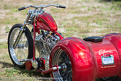 Capone's custom trike during Daytona Beach Bike Week 2015. FL, USA. March 14, 2015.  Photography ©2015 Michael Lichter.