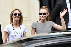 Vanessa Paradis And Lily Rose Depp Leave Chanel Fashion Show - 3 July 2018