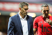 Nottingham Forest Manager Philippe Montanier walking off the pitch during the EFL Sky Bet Championship match between Brentford and Nottingham Forest at Griffin Park, London, England on 16 August 2016. Photo by Matthew Redman.
