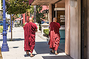 Monks Walking the Streets of Downtown Azusa