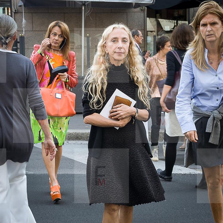 Il terzo giorno della Settimana della Moda a Milano: Franca Sozzani direttrice di Vogue Italia<br /> <br /> The thirDay of Milan fashion week: Franca Sozzani editor in chief of Vogue Italy