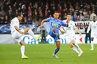 Remi MULUMBA / Bruno GROUGI - 05.03.2015 - Brest / Auxerre - 1/4Finale Coupe de France<br />Photo : Maxime Kerriou / Icon Sport