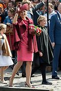 Koningsdag in Dordrecht / Kingsday in Dordrecht<br /> <br /> Op de foto / On the photo: <br /> <br /> Koningin Maxima met Prinses Amalia  en Prinses Ariane<br /> <br /> Queen Maxima with Amalia and Princess Ariane