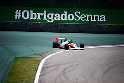 November 17, 2019, SãO Paulo, Brazil: SÃO PAULO, SP - 17.11.2019: GRANDE PRÊMIO DO BRASIL F1 2019 - It takes place this Sunday (17), at the Interlagos racetrack, south of the city of Sao Paulo, another Grand Prix of Brazil F1 2019. The driver Lewis Hamilton of Mercedes has already been champion of this season. In the photo, the nephew of pilot Ayrton Senna, Bruno Senna, pilots the McLaren MP4 / $ year 1988, in honor of his uncle. (Credit Image: © Aloisio Mauricio/Fotoarena via ZUMA Press)