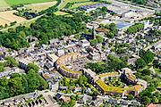 Nederland, Gelderland, Zevenaar, 09-06-2016; centrum van Zevenaar met onder andere Arnhemseweg, Andreaskerk. Station en spoorlijn in de achtergrond.<br /> <br /> luchtfoto (toeslag op standard tarieven);<br /> aerial photo (additional fee required);<br /> copyright foto/photo Siebe Swart