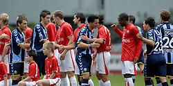 22-10-2006 VOETBAL: UTRECHT - DEN HAAG: UTRECHT<br /> FC Utrecht wint in eigenhuis met 2-0 van FC Den Haag / Michael Mols en edson Braafheid<br /> ©2006-WWW.FOTOHOOGENDOORN.NL