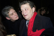 NIKKI BELL AND NORMAN ROSENTHALL, Tim Noble and Sue Webster: Sacrificial Heart. Gagosian . Davies St. London and afterwards Claridges. 11 December 2007. . -DO NOT ARCHIVE-© Copyright Photograph by Dafydd Jones. 248 Clapham Rd. London SW9 0PZ. Tel 0207 820 0771. www.dafjones.com.