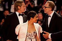 Venice, Italy, 29th August 2019, Brad Pitt, Ruth Negga and Director, James Gray<br /> at the gala screening of the film Ad Astra at the 76th Venice Film Festival, Sala Grande. Credit: Doreen Kennedy/Alamy Live News