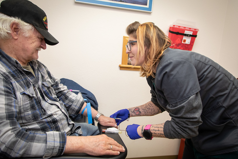 Staff perform their roles at West Custer County Medical Center in Westcliffe, CO.