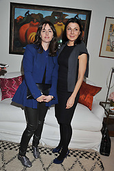 Left to right, TANIA FARES and ALLEGRA DONN at a lunch hosted by Roger Vivier held at Bella Pollen's home, 5 Stanley Crescent , London on 29th January 2013.
