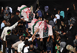 November 2, 2018 - Allahabad, Uttar Pradesh, India - Shia Muslims take part in '72 Taboot' procession during Muharram month in Allahabad. (Credit Image: © Prabhat Kumar Verma/Pacific Press via ZUMA Wire)