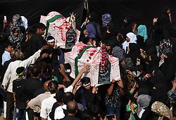 November 2, 2018 - Allahabad, Uttar Pradesh, India - Shia Muslims take part in '72 Taboot' procession during Muharram month in Allahabad. (Credit Image: © Prabhat Kumar Verma/Pacific Press via ZUMA Wire)
