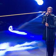 NLD/Hilversum/20151205- Eerste Live uitzending The Voice 2015, Ivan Peroti