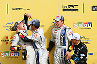 01 Volkswagen Motorsport, Ogier Sebastien, Ingrassia Julien, Volkswagen Polo Wrc, WRC champion for the second year during the 2014 WRC World Rally Car Championship, rally of Spain from October 23th to 326th, at Salou, Spain. Photo François Baudin / DPPI