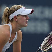 Alison Riske, USA, in action against Petra Kvitova,  Czech Republic, during the New Haven Tennis Open at Yale,, Connecticut, USA. 20th August 2013. Photo Tim Clayton