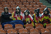 Brave fans during a wet  Round 5 ITM cup Rugby match, Waikato v Tasman, at Waikato Stadium, Hamilton, New Zealand, Friday 29 July 2011. Photo: Dion Mellow/photosport.co.nz