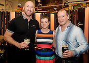 Pamela Devaney Tuam with Rugby legend Trevor Brennan and Frankie Sheahan  at the Guinness Area22 event in the Carlton Hotel Galway.