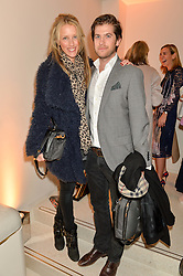 JACK & KATE FREUD at the launch of the new J&M Davidson flagship shop at 104 Mount Street, London on 3rd February 2016.