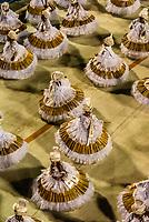 "Dancers called ""ala das Baianas"" spinning, Carnaval parade of Academicos da Rocinha samba school in the Sambadrome, Rio de Janeiro, Brazil."