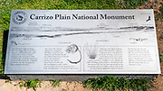 Interpretive sign, Carrizo Plain National Monument, California USA