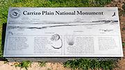 Interpretive sign, Carrizo Plain National Monument, California USA