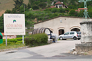 cote rotie sign winery domaine bonserine ampuis rhone france