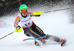 16.02.2013, Planai, Schladming, AUT, FIS Weltmeisterschaften Ski Alpin, Slalom, Damen, 1. Durchgang, im Bild Erin Mielzynski (CAN) // Erin Mielzynski of Canada in action during 1st run of the Womens Slalom at the FIS Ski World Championships 2013 at the Planai Course, Schladming, Austria on 2013/02/16. EXPA Pictures © 2013, PhotoCredit: EXPA/ Johann Groder