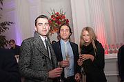 FREDDIE RICHARDSON; TOMASO POLLI; FLORINDA CAREY, Leonie Frieda book party  for ' The Deadly Sisterhood.' The Orangery, Kensington Palace. London. 20 November 2012.