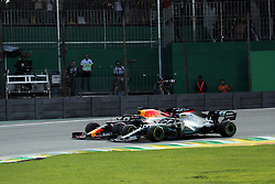 November 17, 2019, Sao Paulo, Brazil: xa9; Photo4 / LaPresse.17/11/2019 Sao Paulo, Brazil.Sport .Grand Prix Formula One Brazil 2019.In the pic: Lewis Hamilton (GBR) Mercedes AMG F1 W10 and Max Verstappen (NED) Red Bull Racing RB15 (Credit Image: © Photo4/Lapresse via ZUMA Press)