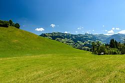 THEMENBILD - Der Blick auf die Anfahrt zum Oberhausberg, aufgenommen am 26. Juni 2017, Kitzbühel, Österreich // The view of the approach to Oberhausberg at the Streif, Kitzbühel, Austria on 2017/06/26. EXPA Pictures © 2017, PhotoCredit: EXPA/ Stefan Adelsberger
