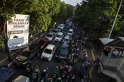 May 27, 2019 - Jakarta, Jakarta, Indonesia - Jakarta, Indonesia, 27 May 2019 : Traffic Jam happening again in Jakarta during rush hour after riots 21 and 22 mei 2019. Although MRT have operated to reduce traffic jam in rush hour  but not affected so much. (Credit Image: © Donal Husni/ZUMA Wire)