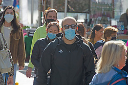 ©Licensed to London News Pictures 24/09/2020  <br /> Bromley, UK. A busy high street. Shoppers at Bromley High Street, Bromley, South East London wearing protective masks today to help protect themselves and others from the threat of Coronavirus. Photo credit:Grant Falvey/LNP