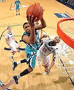 Virginia beat UNC Wilmington 69-67 Monday Jan. 18, 2010 in Charlottesville, Va. UNC Wilmington's John Fields (Photo/The Daily Progress/Andrew Shurtleff)